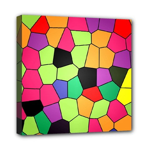 Stained Glass Abstract Background Mini Canvas 8  x 8