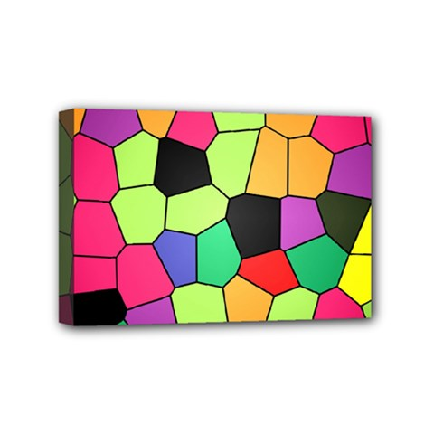 Stained Glass Abstract Background Mini Canvas 6  x 4