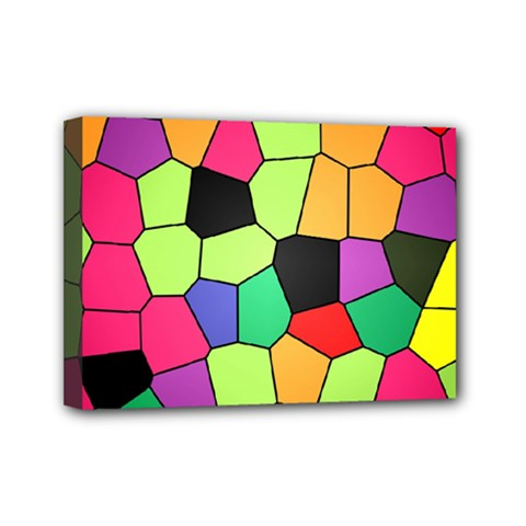 Stained Glass Abstract Background Mini Canvas 7  x 5