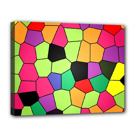 Stained Glass Abstract Background Canvas 14  x 11