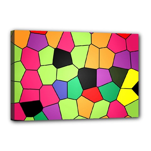 Stained Glass Abstract Background Canvas 18  x 12