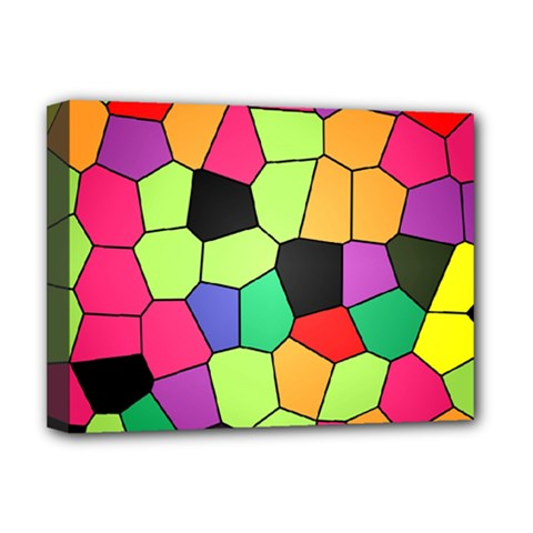 Stained Glass Abstract Background Deluxe Canvas 16  x 12