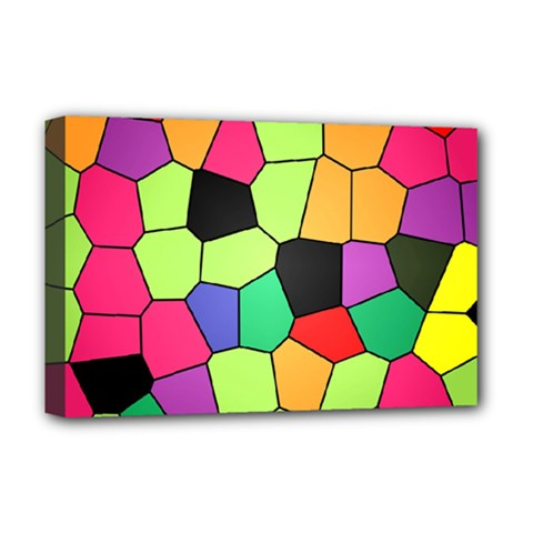 Stained Glass Abstract Background Deluxe Canvas 18  x 12
