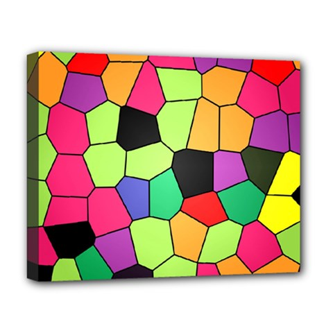 Stained Glass Abstract Background Deluxe Canvas 20  x 16