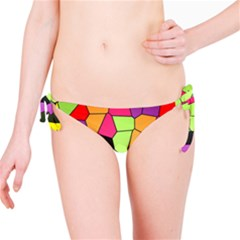 Stained Glass Abstract Background Bikini Bottom