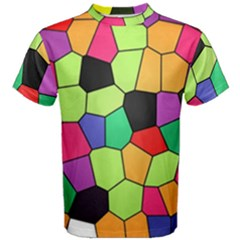 Stained Glass Abstract Background Men s Cotton Tee