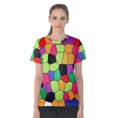 Stained Glass Abstract Background Women s Cotton Tee