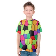 Stained Glass Abstract Background Kids  Cotton Tee