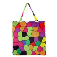 Stained Glass Abstract Background Grocery Tote Bag