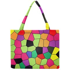 Stained Glass Abstract Background Mini Tote Bag