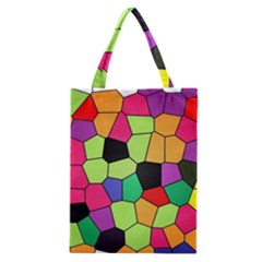 Stained Glass Abstract Background Classic Tote Bag