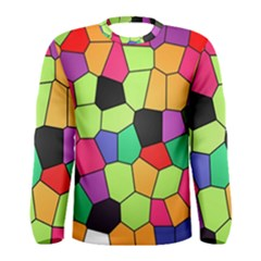 Stained Glass Abstract Background Men s Long Sleeve Tee