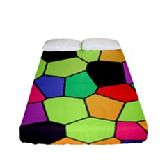 Stained Glass Abstract Background Fitted Sheet (Full/ Double Size)