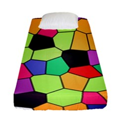 Stained Glass Abstract Background Fitted Sheet (Single Size)