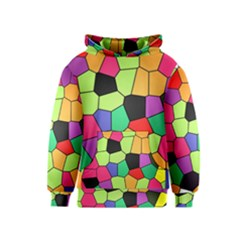 Stained Glass Abstract Background Kids  Pullover Hoodie