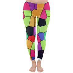 Stained Glass Abstract Background Classic Winter Leggings