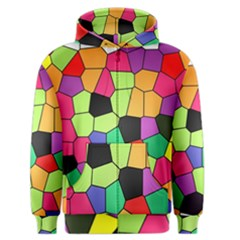 Stained Glass Abstract Background Men s Zipper Hoodie
