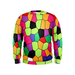 Stained Glass Abstract Background Kids  Sweatshirt