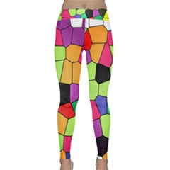 Stained Glass Abstract Background Classic Yoga Leggings
