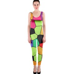 Stained Glass Abstract Background OnePiece Catsuit