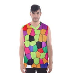 Stained Glass Abstract Background Men s Basketball Tank Top