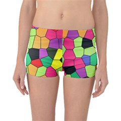 Stained Glass Abstract Background Boyleg Bikini Bottoms