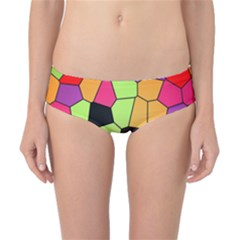 Stained Glass Abstract Background Classic Bikini Bottoms