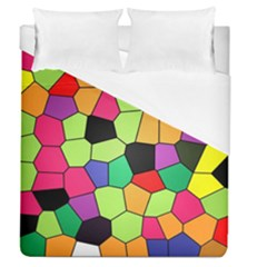 Stained Glass Abstract Background Duvet Cover (Queen Size)