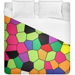 Stained Glass Abstract Background Duvet Cover (King Size)