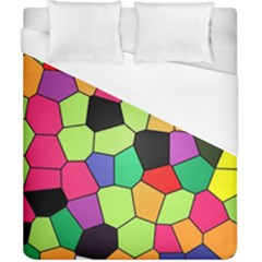 Stained Glass Abstract Background Duvet Cover (California King Size)