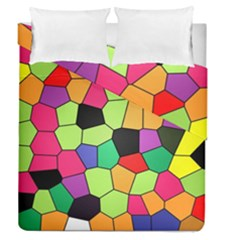 Stained Glass Abstract Background Duvet Cover Double Side (Queen Size)