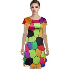 Stained Glass Abstract Background Cap Sleeve Nightdress