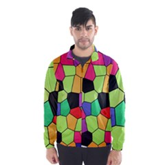 Stained Glass Abstract Background Wind Breaker (Men)