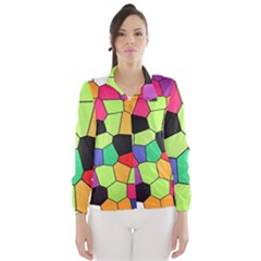 Stained Glass Abstract Background Wind Breaker (Women)