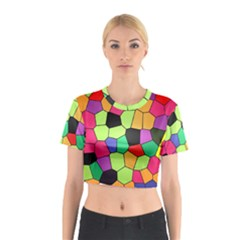 Stained Glass Abstract Background Cotton Crop Top
