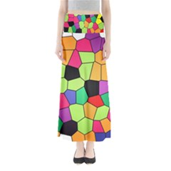Stained Glass Abstract Background Maxi Skirts