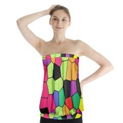 Stained Glass Abstract Background Strapless Top