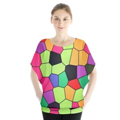 Stained Glass Abstract Background Blouse