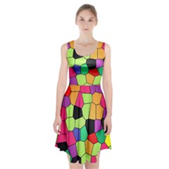 Stained Glass Abstract Background Racerback Midi Dress