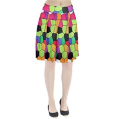 Stained Glass Abstract Background Pleated Skirt