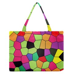 Stained Glass Abstract Background Medium Zipper Tote Bag