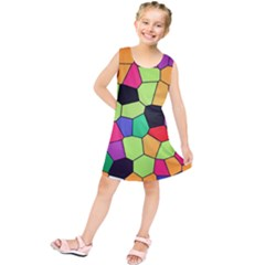 Stained Glass Abstract Background Kids  Tunic Dress
