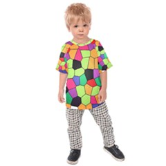 Stained Glass Abstract Background Kids  Raglan Tee