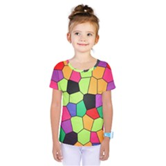 Stained Glass Abstract Background Kids  One Piece Tee