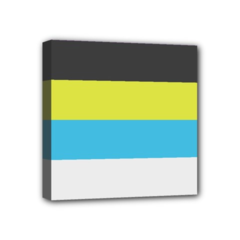 Bigender Flag Mini Canvas 4  X 4