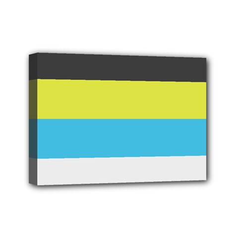 Bigender Flag Mini Canvas 7  X 5