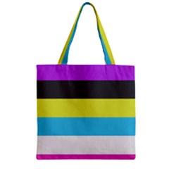 Bigender Flag Zipper Grocery Tote Bag