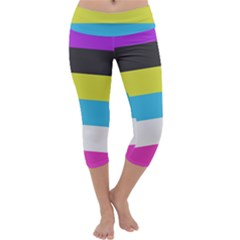 Bigender Flag Capri Yoga Leggings