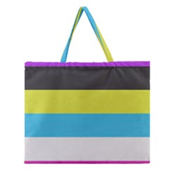 Bigender Flag Zipper Large Tote Bag