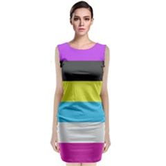 Bigender Flag Classic Sleeveless Midi Dress